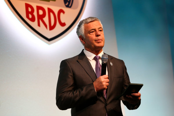 2017 British Racing Drivers Club Awards. London Hilton Hotel, Park Lane, London. Monday 4th December 2017. Derek Warwick. World Copyright: Jakob Ebrey / LAT Images. Ref: Warwick-09