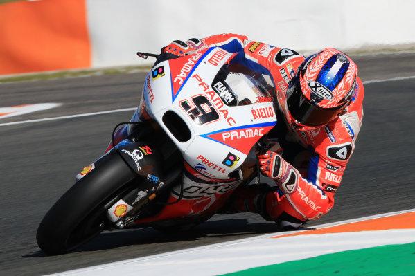 2017 MotoGP Championship - Valencia test, Spain. Tuesday 14 November 2017 Danilo Petrucci, Pramac Racing World Copyright: Gold and Goose / LAT Images ref: Digital Image 706832