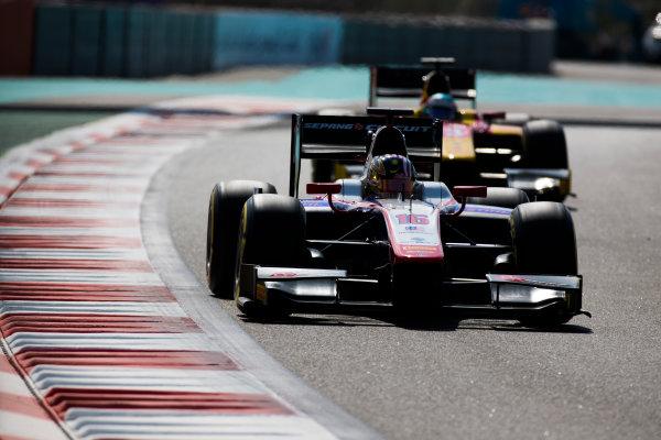 2017 FIA Formula 2 Round 11. Yas Marina Circuit, Abu Dhabi, United Arab Emirates. Friday 24 November 2017. Nabil Jeffri (MAS, Trident).  Photo: Sam Bloxham/FIA Formula 2. ref: Digital Image _W6I2158