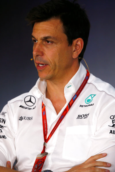 Red Bull Ring, Spielberg, Austria. Friday 07 July 2017. Toto Wolff, Executive Director (Business), Mercedes AMG, in the team principals Press Conference. World Copyright: Andy Hone/LAT Images ref: Digital Image _ONY9942
