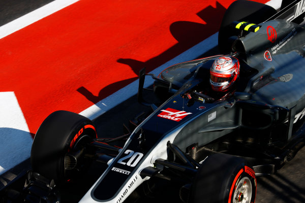 Baku City Circuit, Baku, Azerbaijan. Saturday 24 June 2017. Kevin Magnussen, Haas VF-17 Ferrari.  World Copyright: Steven Tee/LAT Images ref: Digital Image _R3I3298