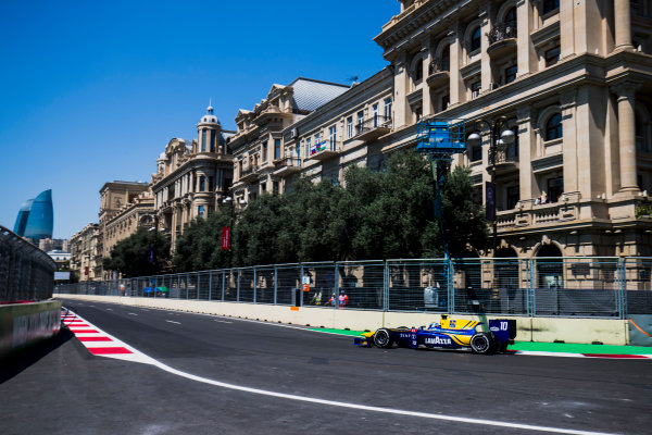 2017 FIA Formula 2 Round 4. Baku City Circuit, Baku, Azerbaijan. Friday 23 June 2017. Nicholas Latifi (CAN, DAMS)  Photo: Zak Mauger/FIA Formula 2. ref: Digital Image _54I9535