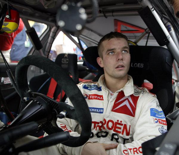 2003 FIA World Rally Champs. Round Twelve Corsica Rally 16th-19th October 2003.Sebastien Loeb, Citroen, portraitWorld Copyright: McKlein/LAT
