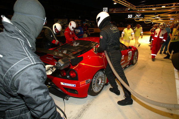 2003 Le mans 24 HoursLe Mans, France. 11th June 2003Kelleners/Lazzaro/Borcheller (Ferrari), pitstop.World Copyright: Mike Weston/LAT Photographicref: Digital Image Only