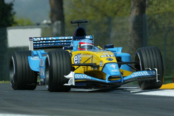 2003 San Marino Grand Prix - Friday 1st QualifyingImola, Italy. 18th April 2003Fernando Alonso, Renault R23, action.World Copyright: LAT Photographic ref: Digital Image Only
