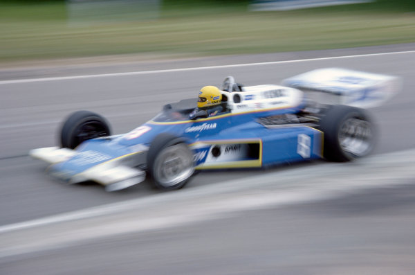 1977 USAC Indycar Series.Mosport Park, Canada. 3rd July 1977.Tom Sneva (McLaren M24-Cosworth), 3rd position.World Copyright: Murenbeeld/LAT Photographic
