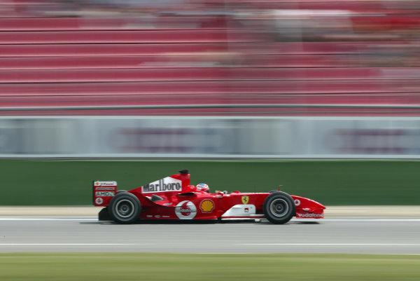 2004 German Grand Prix - Friday Practice, Hockenheim, Germany. 23rd July 2004 Rubens Barrichello, Ferrari F2004. Action. World Copyright: Steve Etherington/LAT Photographic ref: Digital Image Only