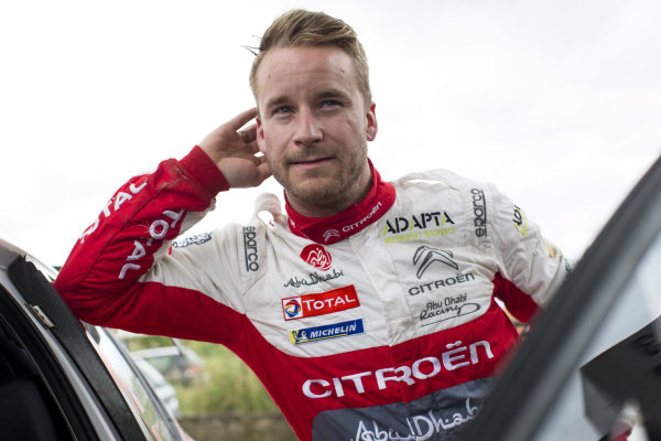 Mads Østberg in a relaxed mood during Rally d'Italia Sardinia