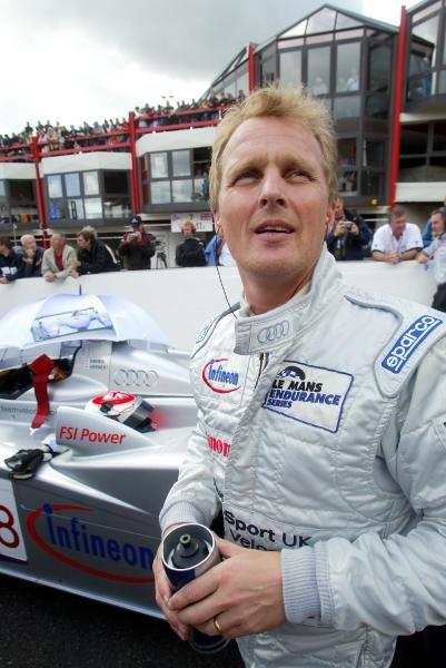 Johnny Herbert (GBR) Audi Sport UK Team Veloqx.Le Mans Endurance Series, Rd4, Spa 1000km, Spa-Francorchamps, Belgium. 12 September 2004.DIGITAL IMAGE
