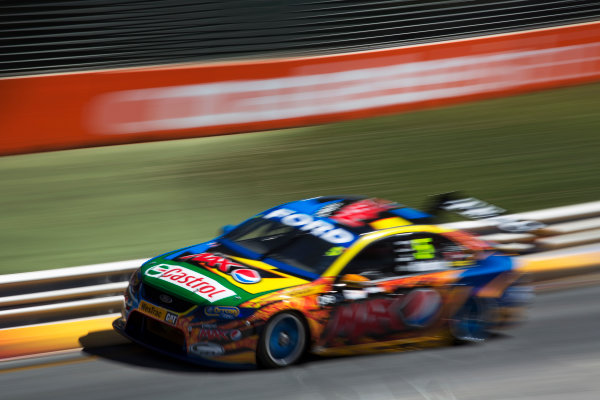 2013 V8 Supercar Championship. Round 1. Clipsal 500, Adelaide. 3rd March 2013. Sunday Race 2. Mark Winterbottom (Pepsi Max Crew/Ford Performance Racing – Ford Falcon FG) Action.  World Copyright:  Daniel Kalisz/LAT Photographic Ref: Digital Image DKAL7351.jpg .