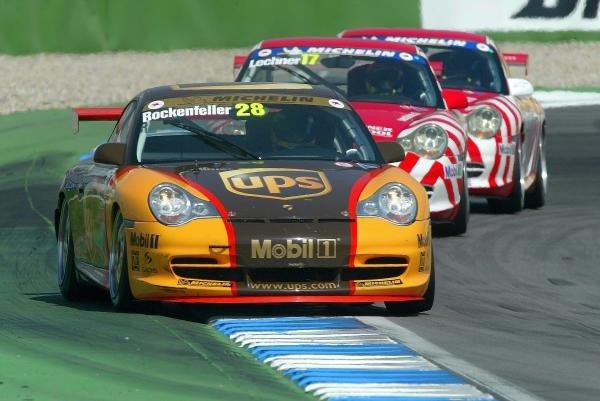 Mike Rockenfeller (GER) UPS Porsche Junior Team.Porsche Supercup, Rd8, Hockenheim, Germany,3 August 2003.DIGITAL IMAGE