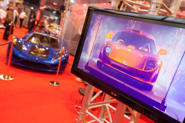 Autosport International Exhibition. National Exhibition Centre, Birmingham, UK. Friday 9 January 2015. The Keating Supercars stand. World Copyright: Edd Hartley/Jakob Ebrey/LAT Photographic. ref: Digital Image _MG_1948