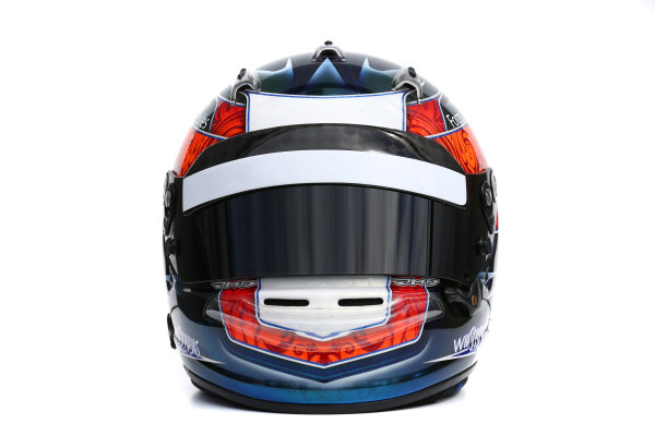 Albert Park, Melbourne, Australia. Helmet of Will Stevens, Manor Marussia F1.  Thursday 12 March 2015. World Copyright: LAT Photographic. ref: Digital Image 2015_Helmet_047