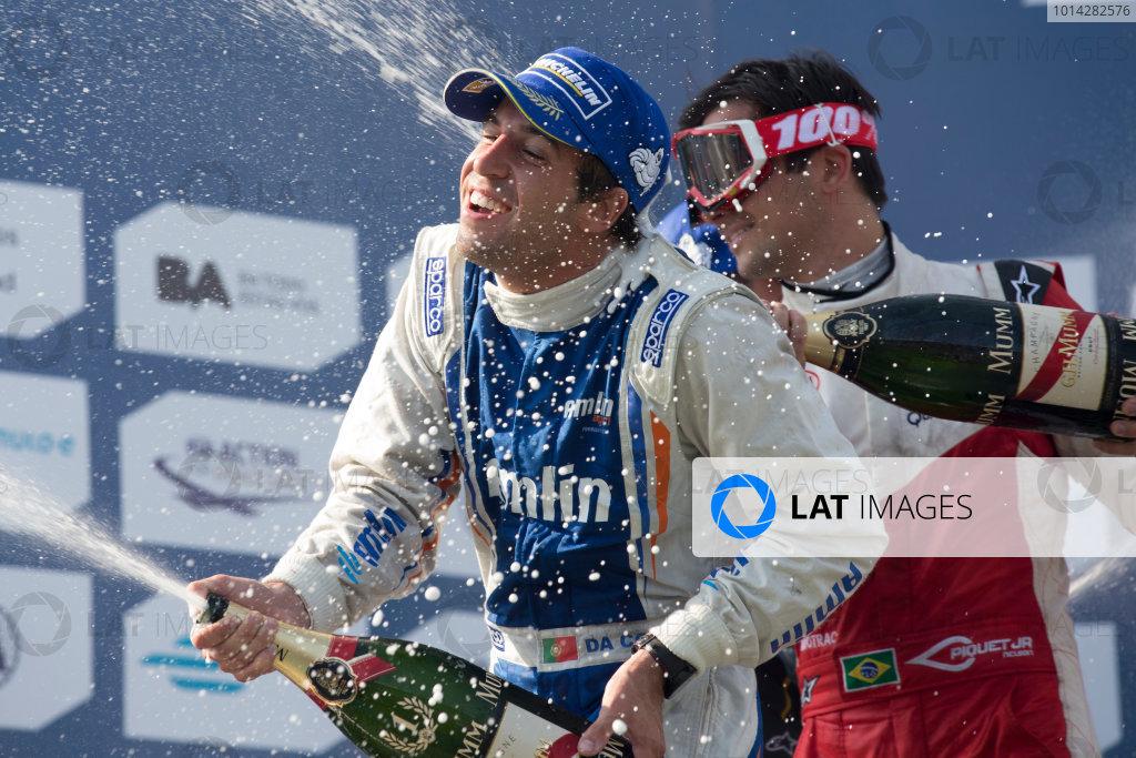 2014 Formula E  Buenos Aires e-Prix, Argentina Saturday 10 January 2015. Antonio Felix Da Costa (POR)/Amlin Aguri - Spark-Renault SRT_01E  Photo: Alastair Staley/LAT/Formula E ref: Digital Image _R6T1996