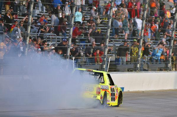 12-13 May, 2016, Dover, Delaware USA Matt Crafton celebrates his win with a burnout ? 2016, Nigel Kinrade LAT Photo USA