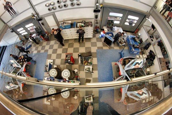 Hyundai Service Area. FIA World Rally Championship, Rd1, Rally Monte Carlo, Preparatons, Monte Carlo, 13-15 January 2014.