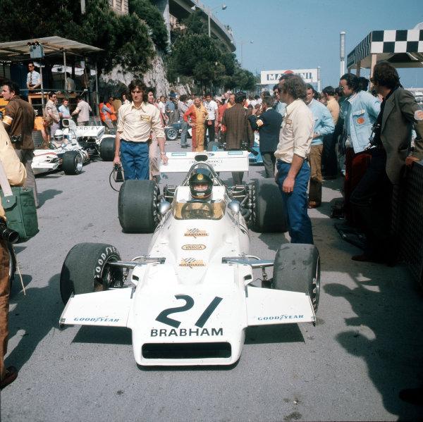 Monte Carlo, Monaco.11-14 May 1972.Wilson Fittipaldi (Brabham BT33 Ford).Ref-3/5067G.World Copyright - LAT Photographic