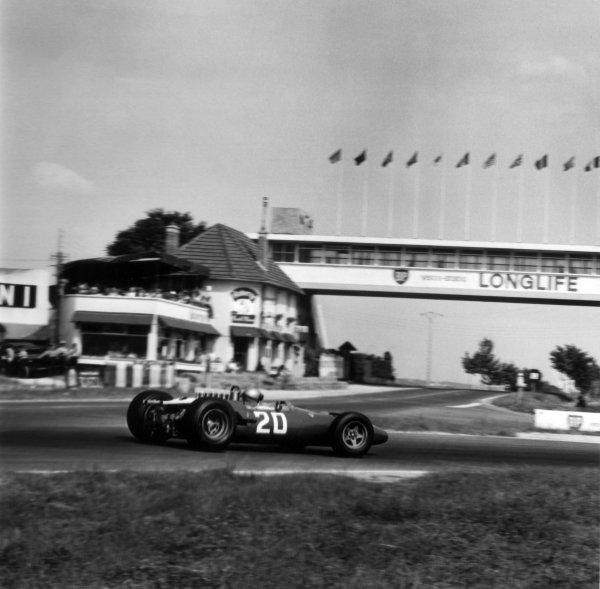 1966 French Grand Prix.Reims, France. 3 July 1966.Lorenzo Bandini, Ferrari 312, not classified, action.World Copyright: LAT PhotographicRef: 35336