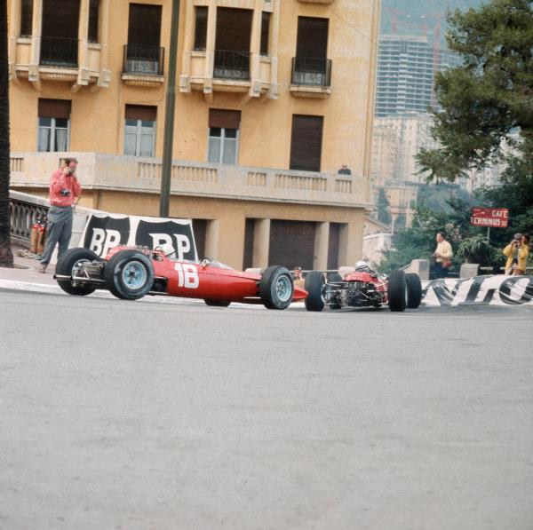 Monte Carlo, Monaco.28-30 May 1965.John Surtees (Ferrari 158) 4th position.Ref-3/1613.World Copyright - LAT Photographic