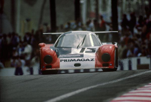 Le Mans, France. 15th -16th  June 1985.Yves Courage/Alain de Cadenet/Jean-Franois Yvon (Cougar C12 Porsche), 20th position, action. World Copyright: LAT Photographic.Ref:  85LM36