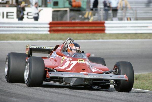1981 Dutch Grand PrixZandvoort, Holland. 28-30 August 1981.Gilles Villeneuve (Ferrari 126CK), retired. Ref - 81HOL33.World Copyright - LAT Photographic