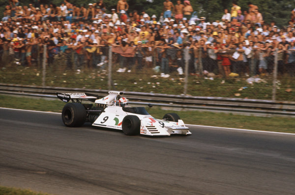 Monza, Italy. 9th September 1973.Rolf Stommelen (Brabham BT42 Ford), 12th position, action.World Copyright: LAT PhotographicRef: 35mm Image