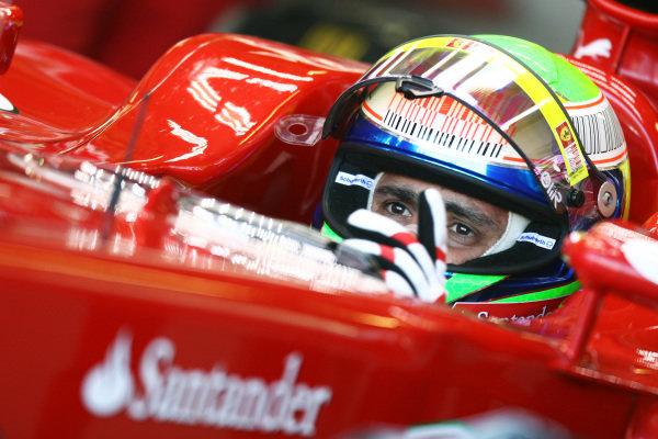 Felipe Massa (BRA) Ferrari F10. Formula One World Championship, Rd 10, British Grand Prix, Practice Day, Silverstone, England, Friday 9 July 2010.