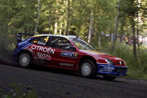 2004 FIA World Rally Champs. Round nine, Neste Rally Finland.5th - 8th August 2004.Carlos Sainz, Citroen, action.World Copyright: McKlein/LAT