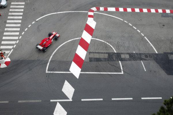 2004 Monaco Grand Prix - Thursday Practice,Monaco. 20th May 2004 Rubens Barrichello, Ferrari F2004, action.World Copyright: Steve Etherington/LAT Photographic ref: Digital Image Only