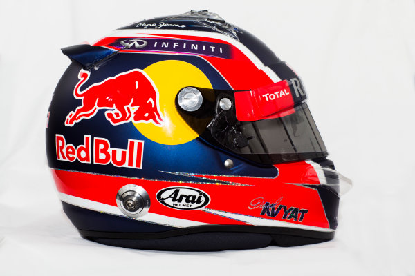 Circuito de Jerez, Jerez, Spain. Tuesday 3 February 2015. Helmet of Daniil Kvyat, Red Bull Racing.  World Copyright: Red Bull Racing (Copyright Free FOR EDITORIAL USE ONLY) ref: Digital Image 2015_RED_BULL_HELMET_18