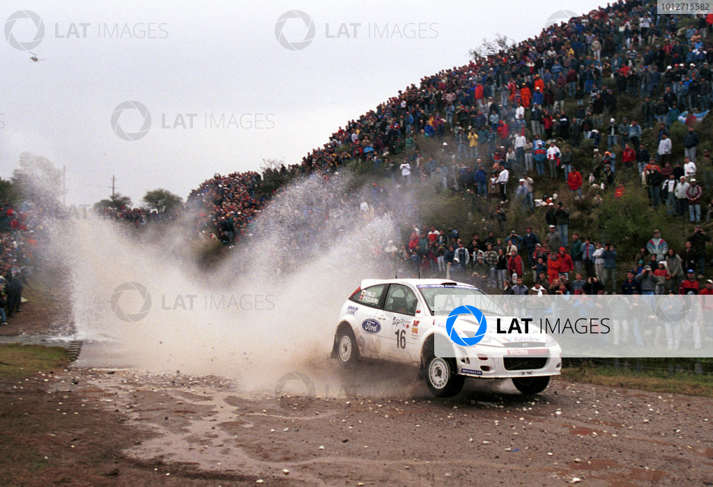 Petter Solberg in action in the Ford Focus WRC.