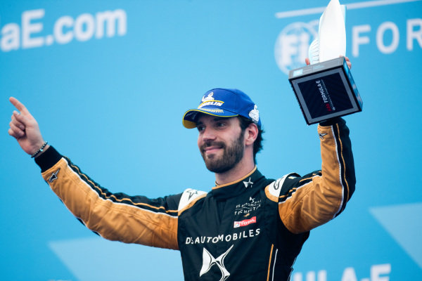 Jean-Eric Vergne (FRA), DS TECHEETAH celebrates 2nd position on the podium