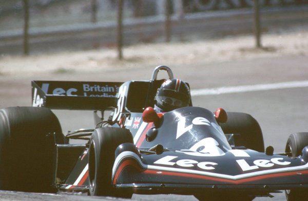 1977 Spanish Grand Prix.Jarama, Madrid, Spain.6-8 May 1977.David Purley (LEC CRP1 Ford).World Copyright - LAT Photographic