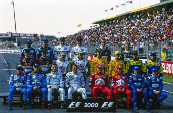 The 2000 F1 drivers photo call.