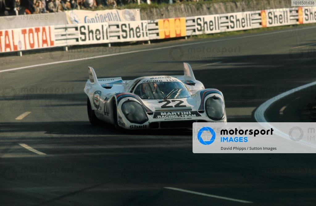 Gijs van Lennep (NED) / Helmut Marko (AUT) Martini International Porsche 917K won the race. Le Mans 24 Hours, Le Mans, France, 12-13 June 1971.