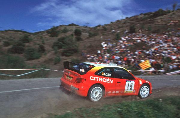 2001 World Rally Championship. Catalunya Rally, Spain. 22nd - 25th March 2001. Rd 4. J. Puras / M. Marti, Citroen Xsara T4, retired. World Copyright: McKlein / LAT Photographic. Ref: A20