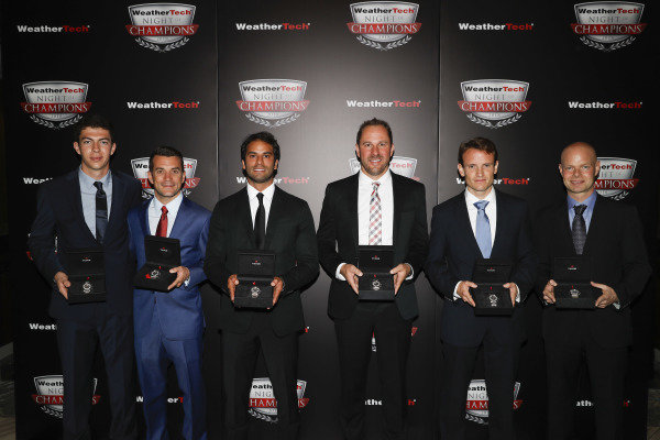 2018 WeatherTech Night of Champions, Tudor Watches, #48 Paul Miller Racing Lamborghini Huracan GT3, GTD: Madison Snow, Bryan Sellers, #31 Action Express Racing Cadillac DPi, P: Eric Curran, Felipe Nasr, #3 Corvette Racing Chevrolet Corvette C7.R, GTLM: Antonio Garcia, Jan Magnussen,