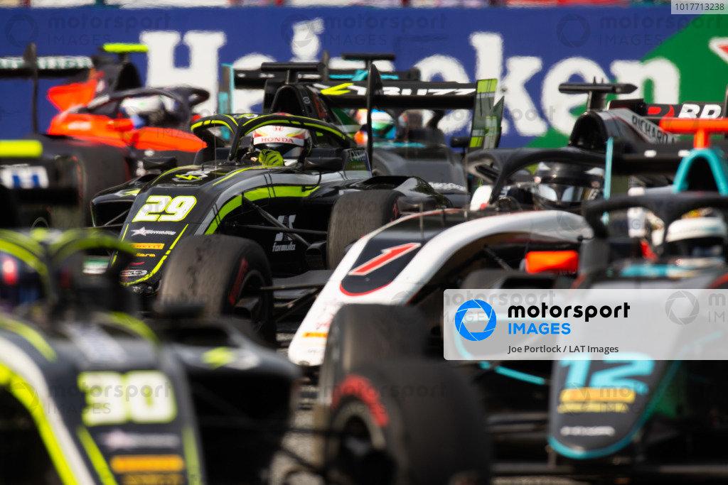 AUTODROMO NAZIONALE MONZA, ITALY - SEPTEMBER 07: Teppei Natori (JPN, Carlin Buzz Racing) during the Monza at Autodromo Nazionale Monza on September 07, 2019 in Autodromo Nazionale Monza, Italy. (Photo by Joe Portlock / LAT Images / FIA F3 Championship)