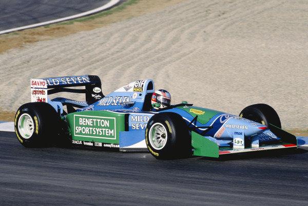 1994 European Grand Prix.Jerez, Spain. 14-16 October 1994.Michael Schumacher (Benetton B194 Ford) 1st position.  Ref: 94EUR23. World Copyright - LAT Photographic