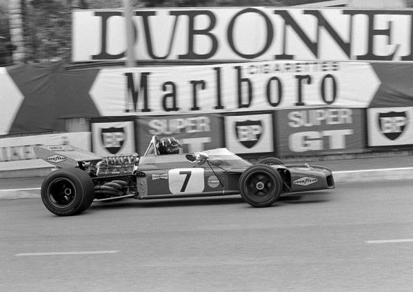 5 times winner at Monaco, Graham Hill(GBR) Brabham BT34, crashed on the first lap Monaco GP, 23 May 1971