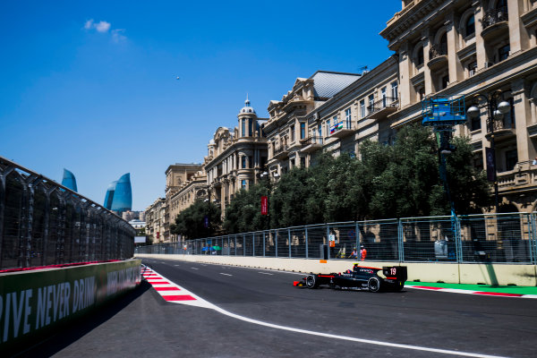 2017 FIA Formula 2 Round 4. Baku City Circuit, Baku, Azerbaijan. Friday 23 June 2017. Johnny Cecotto Jr. (VEN, Rapax)  Photo: Zak Mauger/FIA Formula 2. ref: Digital Image _54I9479