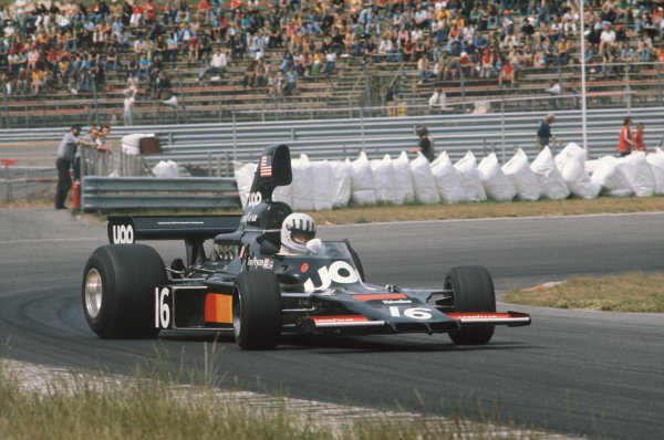 Zandvoort, Holland. 20-22 June 1975. Tom Pryce, Shadow DN5 Ford. Ref: 75HOL14. World Copyright - LAT Photographic