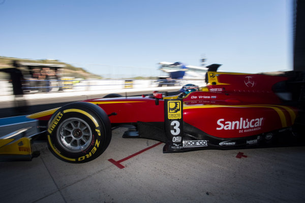 2017 FIA Formula 2 Round 10. Circuito de Jerez, Jerez, Spain. Friday 6 October 2017. Nyck De Vries (NED, Racing Engineering).  Photo: Andrew Ferraro/FIA Formula 2. ref: Digital Image _FER0564