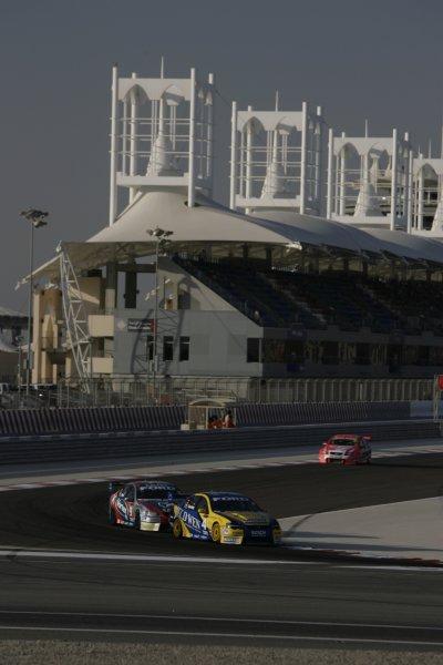 2007 Australian V8 Supercars.Bahrain International Circuit. Sakhir, Bahrain.2nd - 4th November. James Courtney during the V8 Supercar Desert 400. Action. World Copyright: Mark Horsburgh/LAT Photographic. Ref: Digital Image 4-Courtney-RD12-07-3822