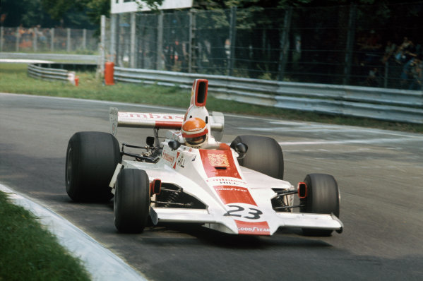 Monza, Italy. 5-7 September 1975. Tont Brise, Hill GH1 Ford, retired. Ref: 75ITA21. World Copyright - LAT Photographic