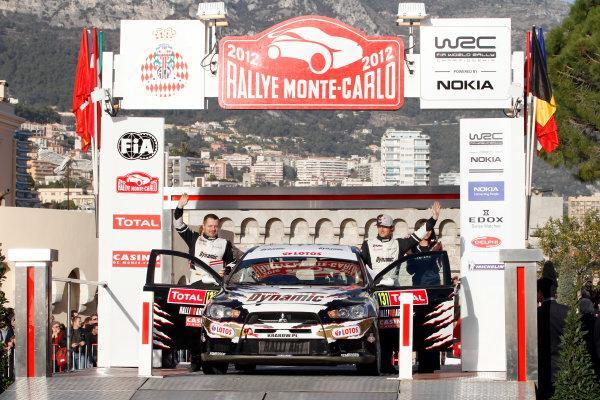 Round 01-Rally Monte Carlo 17-22 January 2012. Michal Kosciuszko, Mitsubishi PWRC, Podium.Worldwide Copyright: McKlein/LAT