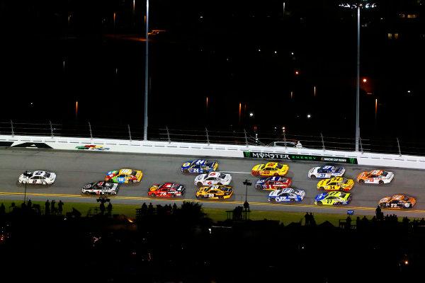 2017 NASCAR Monster Energy Cup - Can-Am Duels Daytona International Speedway, Daytona Beach, FL USA Thursday 23 February 2017 Brad Keselowski, Kevin Harvick and Kyle Busch, M&M's Toyota Camry World Copyright: Russell LaBounty/LAT Images ref: Digital Image 17DAY2rl_01659