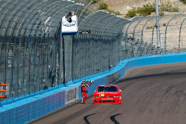 2017 NASCAR Xfinity Series DC Solar 200 Phoenix International Raceway, Avondale, AZ USA Saturday 18 March 2017 Justin Allgaier celebrates his win  World Copyright: Russell LaBounty/LAT Images ref: Digital Image 17PHX1rl_3210