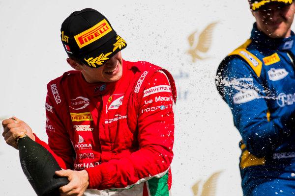2017 FIA Formula 2 Round 1. Bahrain International Circuit, Sakhir, Bahrain.  Sunday 16 April 2017. Charles Leclerc (MCO, PREMA Racing)  Photo: Zak Mauger/FIA Formula 2. ref: Digital Image _56I2112
