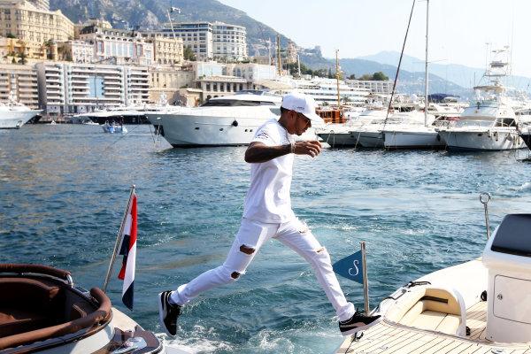 Monte Carlo, Monaco. Sunday 28 May 2017. Lewis Hamilton, Mercedes AMG.  World Copyright: Zak Mauger/LAT Images ref: Digital Image DJ5R1250